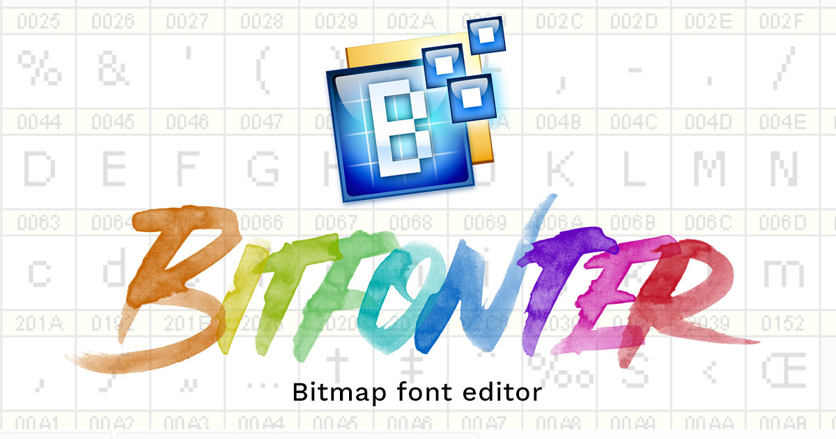 BitFonter 3  Professional bitmap and color font editor for